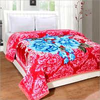 Floral Print Soft Bed Mink Blankets
