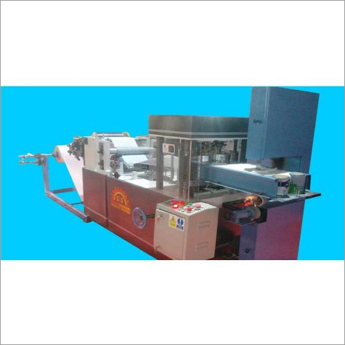 Single Embossing And Single Printing Automatic Paper Napkin Making Machine