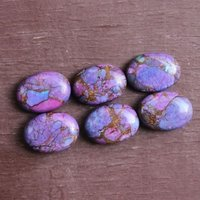 10x12mm Purple Copper Turquoise Oval Cabochon Loose Gemstones