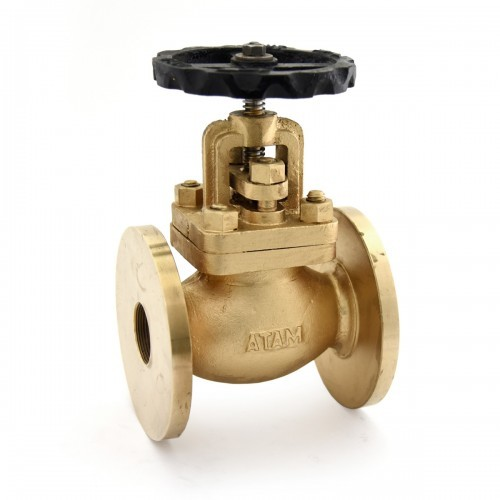 Bronze Auxiliary Steam Stop Valve (Flanged Ends)