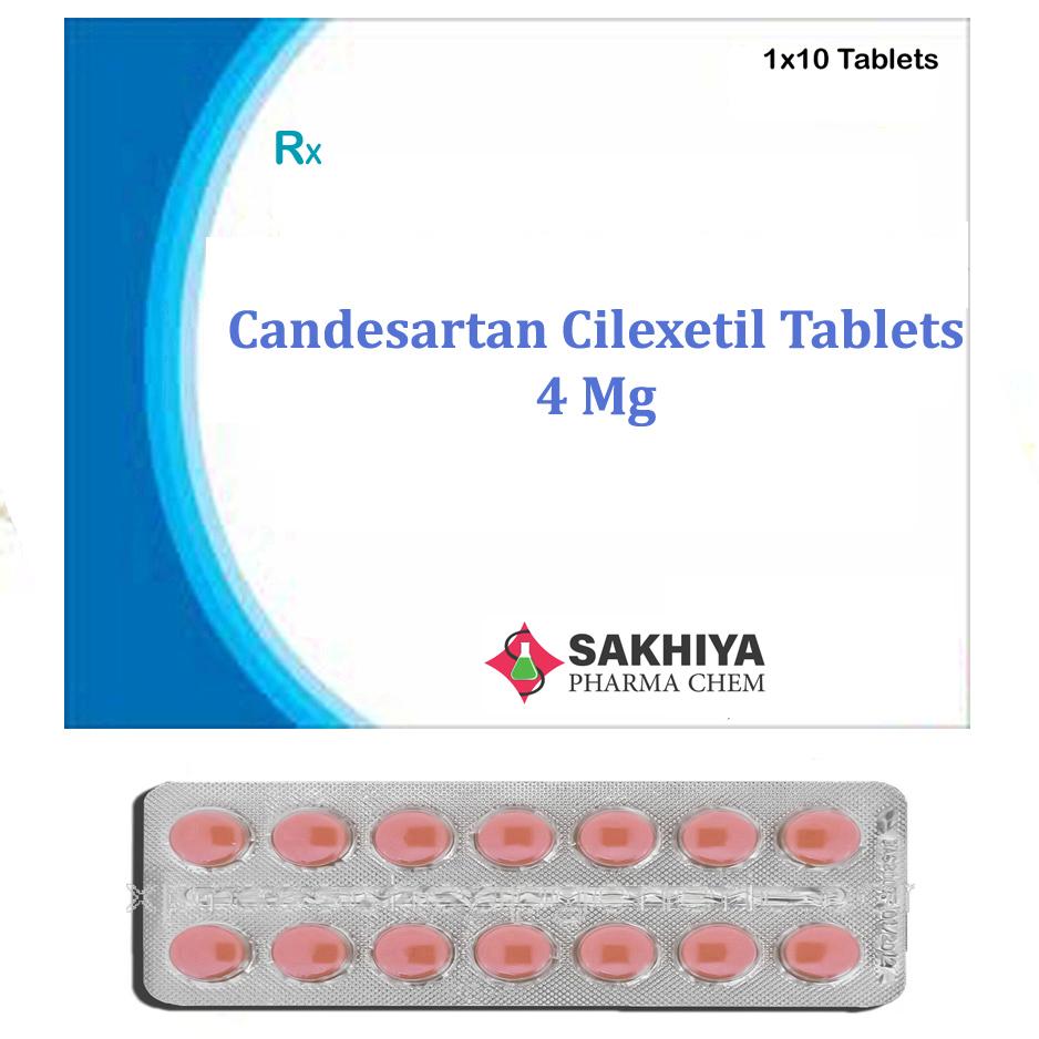 Candesartan Cilexetil 4mg Tablets