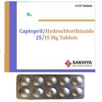 Captopril 25mg + Hydrochlorthiazide 15mg Tablets