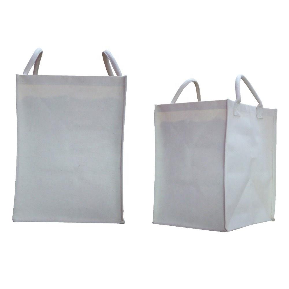 10 Oz PP Laminated Canvas Fabric Box Type Laundry Bag