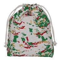 Multicolor Allover Print 150 Gsm Natural Cotton Drawstring Bag