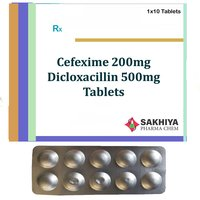 Cefixime 200mg + Dicloxacillin 500mg Tablets