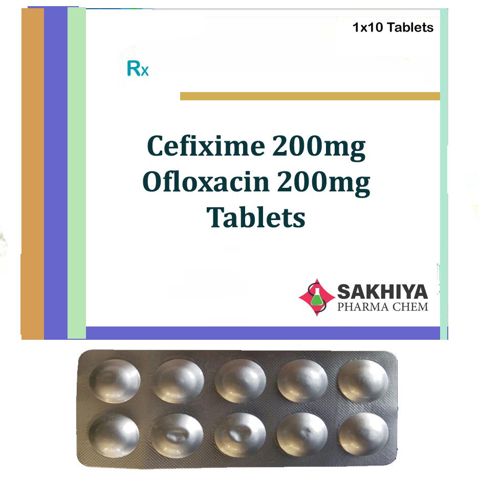 Cefixime 200mg +Ofloxacin 200mg Tablets