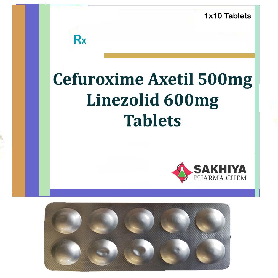 Cefuroxime Axetil 500mg + Linezolid 600mg Tablets