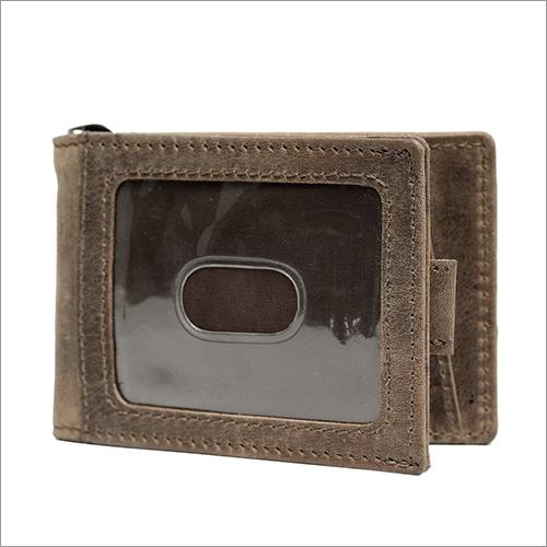 Teakwood Leather Hunter Brown Color Money Clip