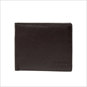 Men Brown Solid Two Fold Wallet