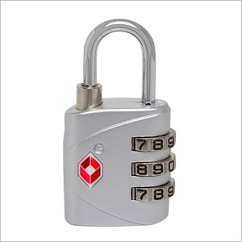 Black 3-Digit Combination TSA Lock