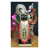 Handmade Black Marble Shrinath Ji Sculpture