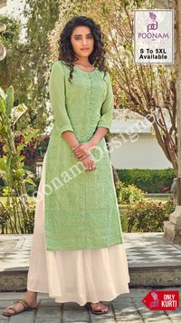 Lucknowi Designer Georgette Kurtis