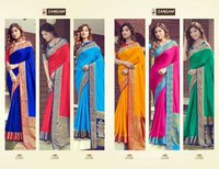 DOLLA SILK PARTY WEAR DESIGNER SAREES