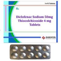 Diclofenac Sodium 50mg + Thiocolchicoside 4mg Tablets