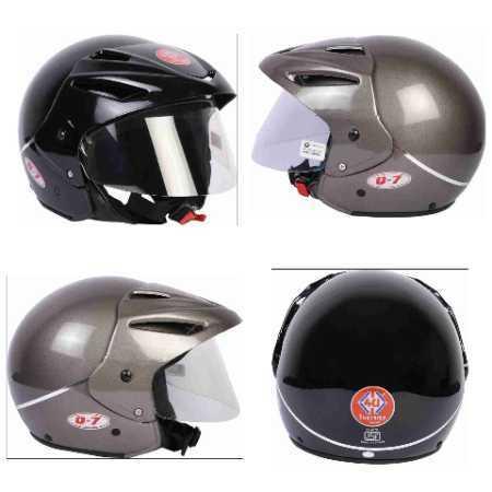 Q-7 GOLD Open Face Bike Helmet