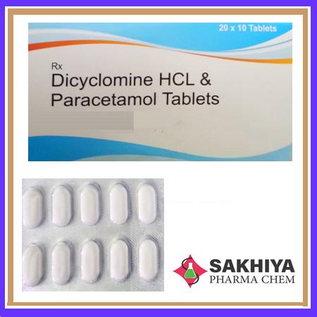 Dicyclomine Hcl Paracetamol Tablets