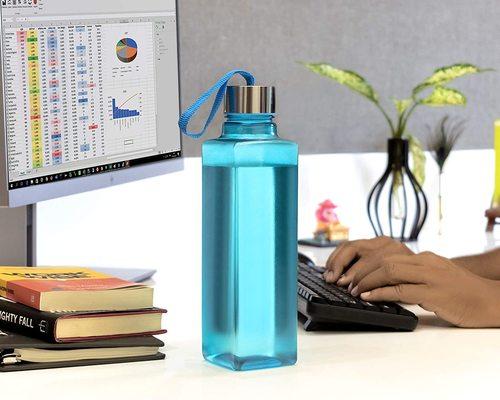 Square Shape Multicolor Water/fridge Bottle