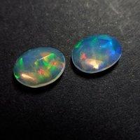 9x11mm Ethiopian Opal Rose Cut Oval Loose Gemstones