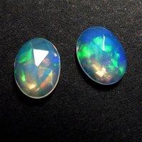 10x14mm Ethiopian Opal Rose Cut Oval Loose Gemstones