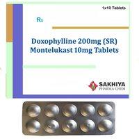 Doxofylline 200mg (SR) + Montelukast 10mg Tablets