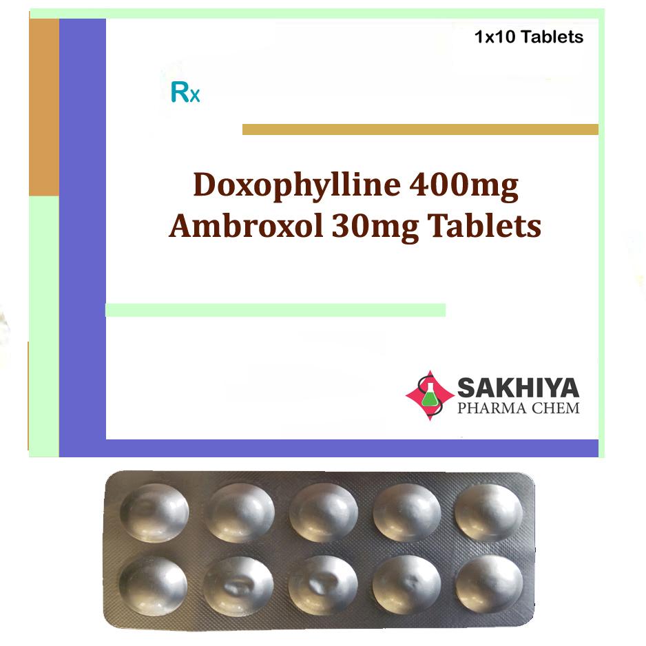 Doxofylline 400mg + Ambroxol 30mg Tablets