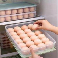 24 Grid Plastic Egg Storage Box