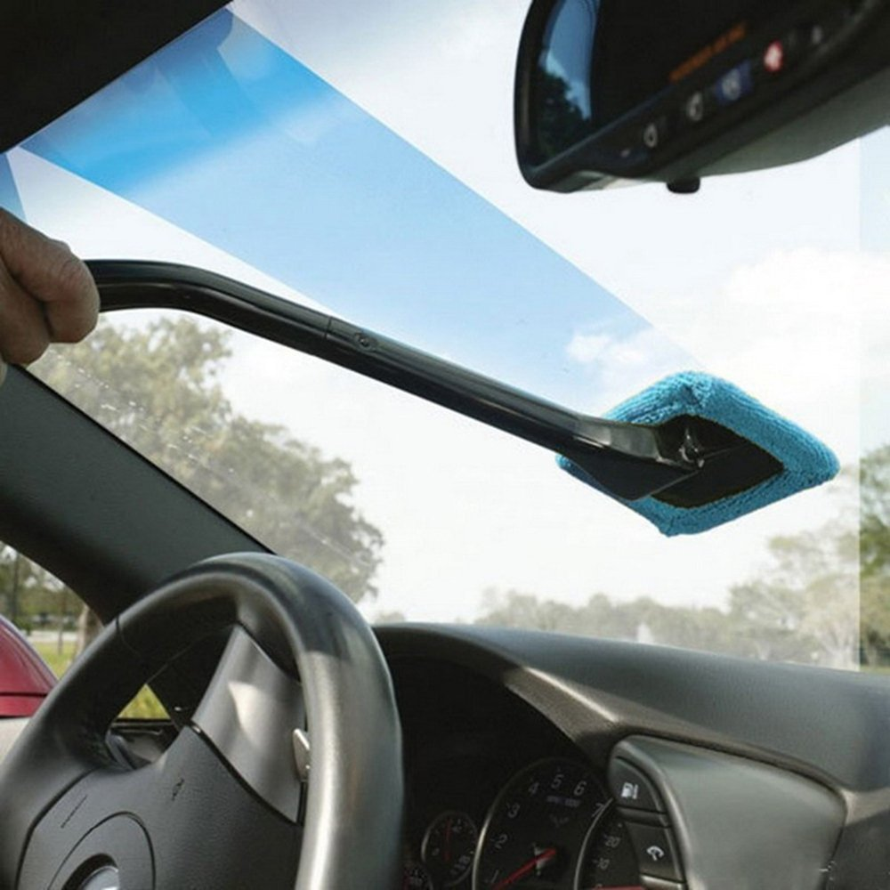 Car Window Cleaner Duster, Car Windshield Glass Pivoting Head Cleaning Brush,