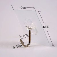 Adhesive Flower Hook, Adhesive Transparent Hook
