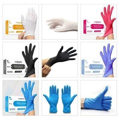 Disposable Black Powder Free Nitrile Gloves