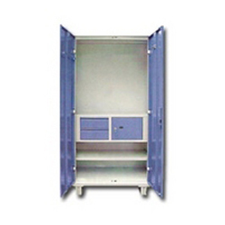 Steel Almirah with Locker and Drawer