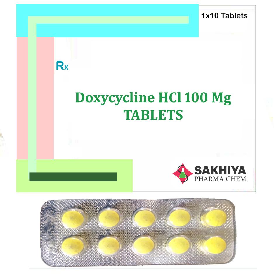 Doxycycline Hcl 100mg Tablets
