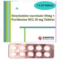 Doxylamine Succinate 10mg + Pyridoxine Hcl 10mg Tablets