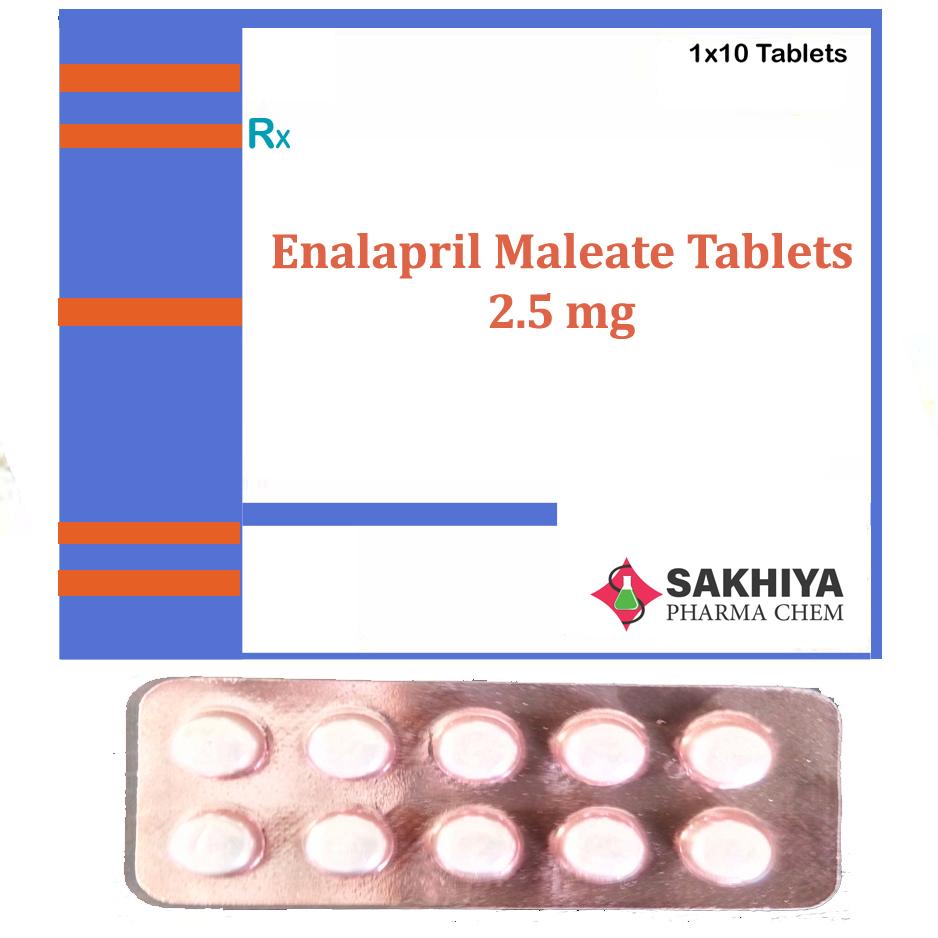 Enalapril Maleate 2.5mg Tablets