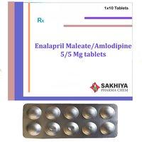 Enalapril Maleate 5mg + Amlodipine 5 mg Tablets