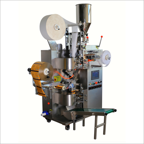 Automatic Teabag Packing Machine With Thread Tag And Outer Envelope