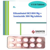 Ethambutol Hcl 800mg + Isoniazide 300mg Tablets