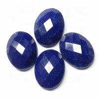 7x9mm Lapis Lazuli Rose Cut Oval Loose Gemstones