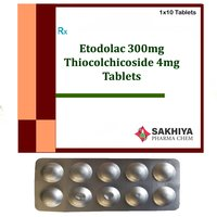 Etodolac 300mg + Thiocolchicoside 4mg Tablets