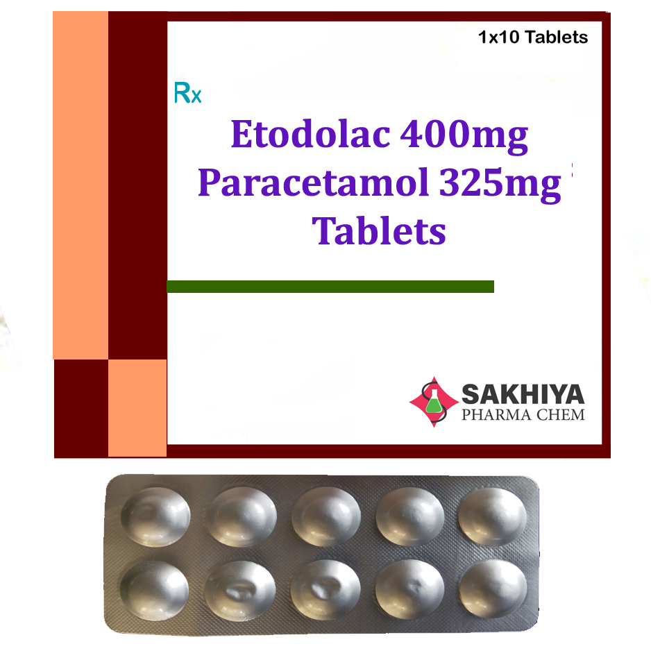 Etodolac 400mg + Paracetamol 325mg Tablets