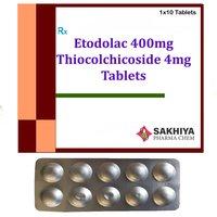 Etodolac 400mg + Thiocolchicoside 4mg Tablets
