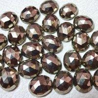 7x9mm Pyrite Rose Cut Oval Loose Gemstones