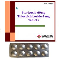Etoricoxib 60mg + Thiocolchicoside 4mg Tablets