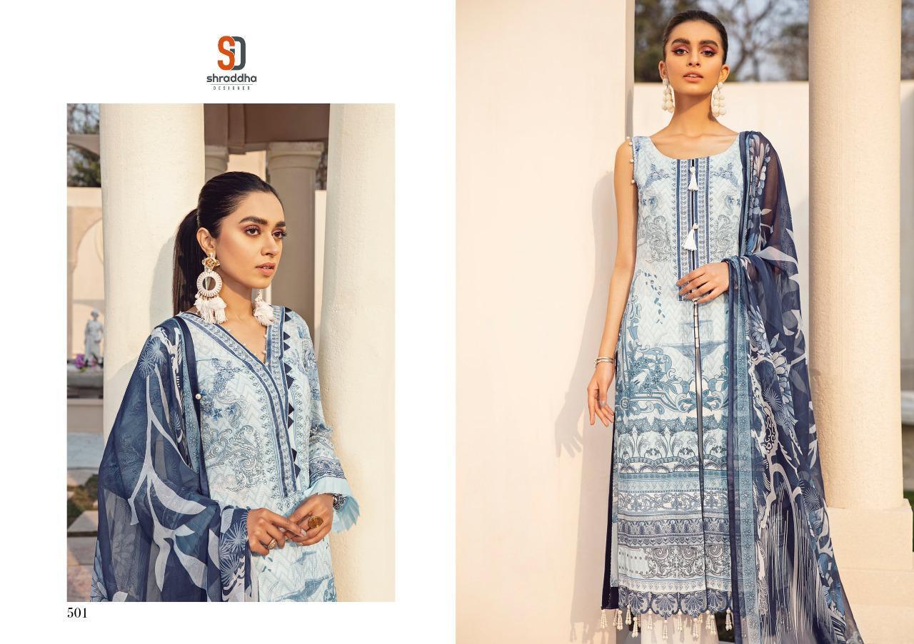 Shraddha Designer Vintage Vol 5 Lawn Cotton Printed Embroidery Pakistani Suit Catalog