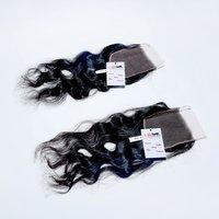 4*4 Hd Swiss Lace Closure, 100% Cuticle Aligned Indian Natural Human Hair