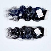 Factory Price Cuticle Aligned Raw Virgin Brazilian Hair 4x4 5x5 Hd Swiss Lace Closure