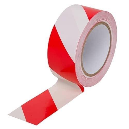 Red & White Zebra Floor Marking Tape