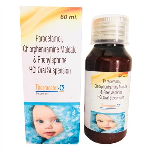 60 ml Paracetamol Chlorpheniramine Maleate and Phenylephrine HCI Oral Suspension