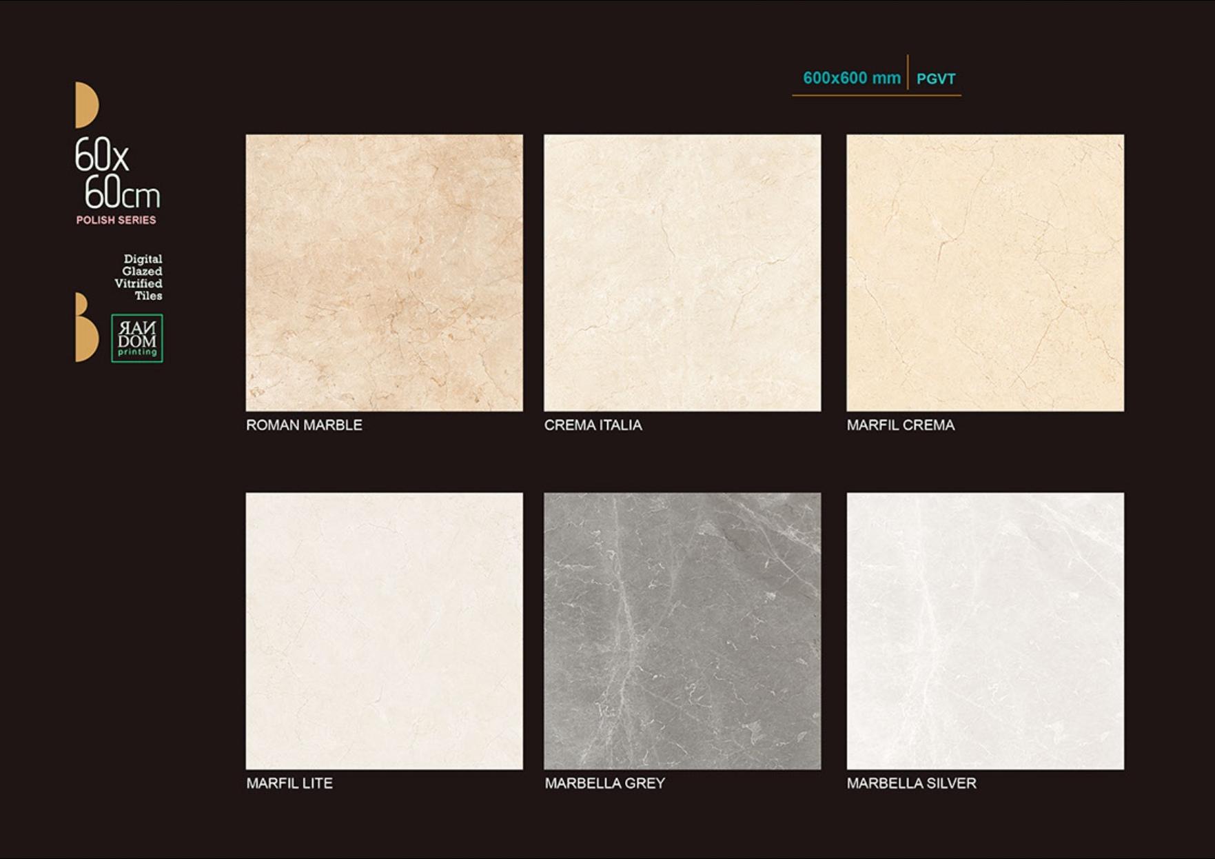 White Polished Floor Tiles