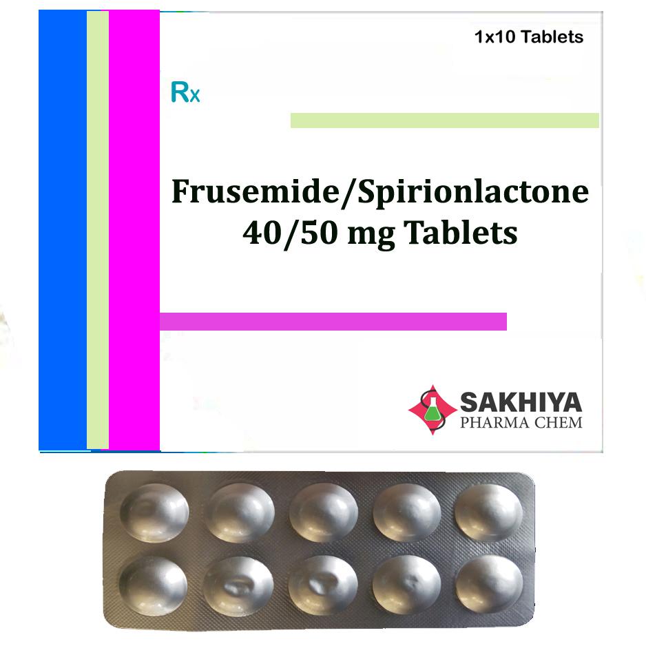 Furosemide 40mg + Spironolactone 50mg Tablets