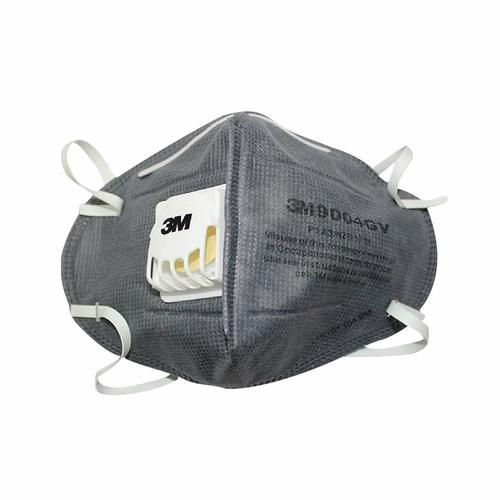 3M 9004GV Anti-pollution Mask with valve, Grey, (Pack of 1)